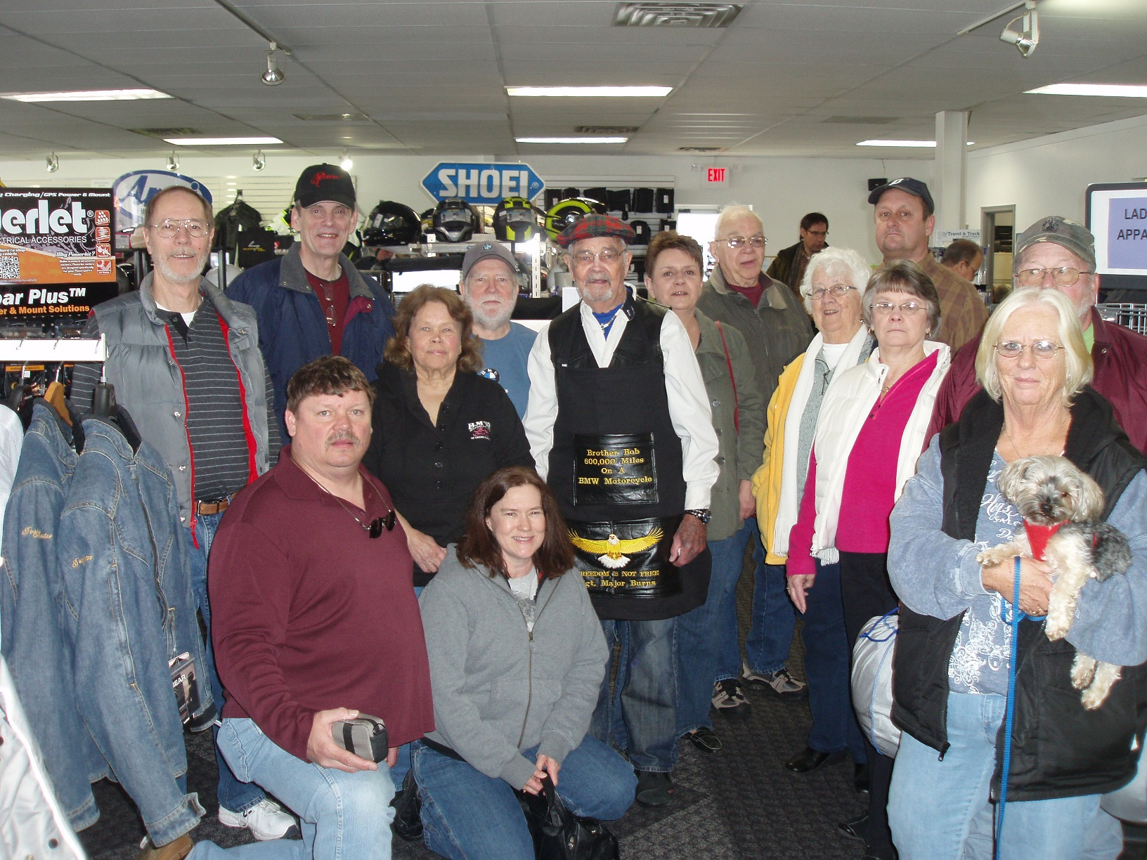 Bob Burns w/ Members of Battle Creek BMW Club